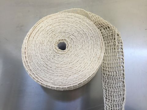 rete elastica misto cotone bianca